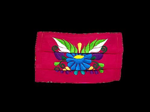 Handmade Artisan Face Mask - Pink