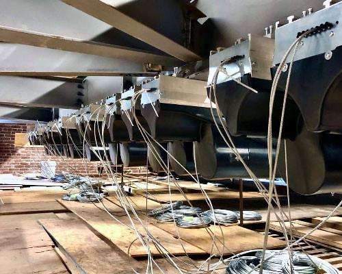 MFi Pro Vortek Automated Line Set Hoists installed by Port Lighting