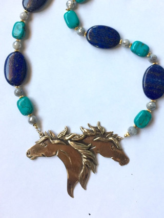 Love of the Haflinger Horse pendant Necklace
