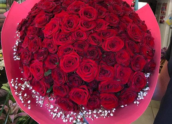 """Букет из 101 красной розы """"Desire"""""""