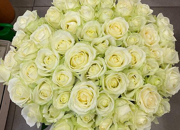 """Букет белых роз """"""""Восхищение"""""""