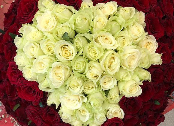 """Букет из 151 розы """"True Love"""""""