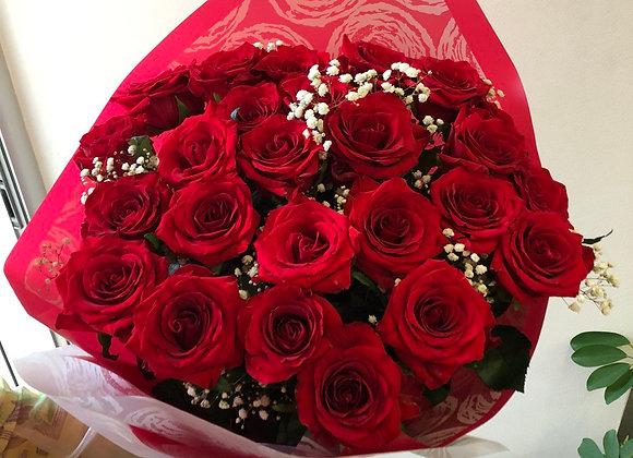 """Букет из 19 красных роз """"Классический Экстра"""""""