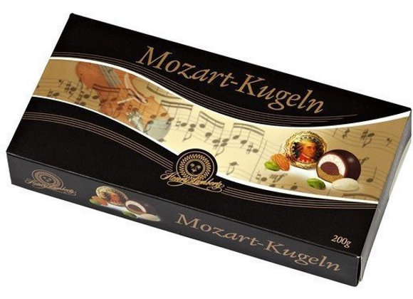 Конфеты шоколадные Mozart-Kugeln Henry Lambertz c марципаном