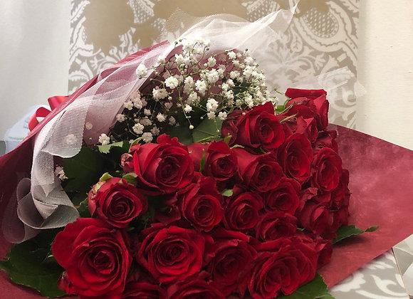 """Букет из 25 красных роз """"Кармен"""""""
