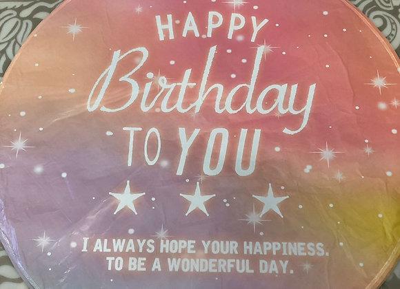 """Фольгированный шар""""Happy Birthday"""""""
