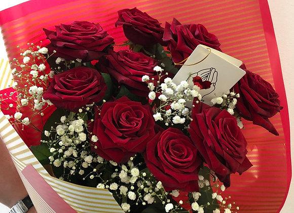 """Букет роз """"Классический"""" из 9 красных роз"""