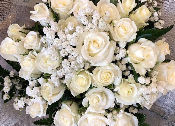 """Букет белых роз """"Эверест"""""""