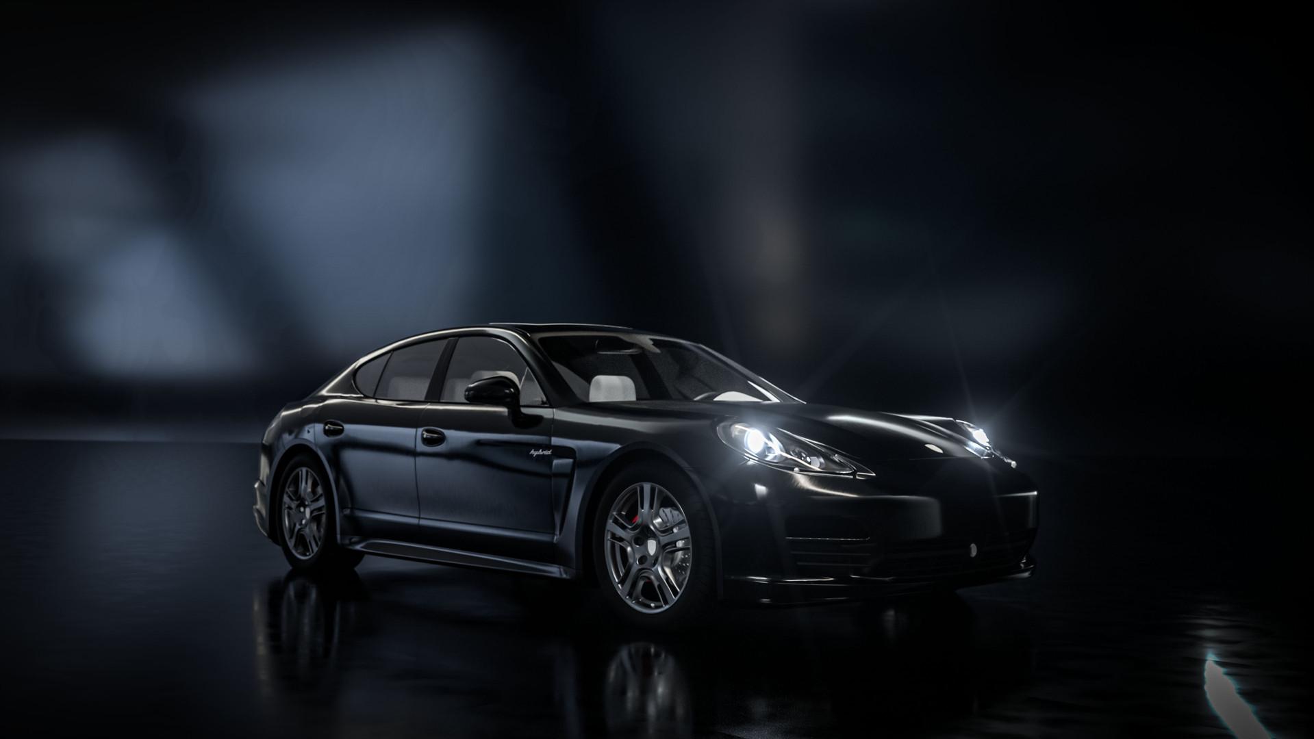 Porsche Panamera Nacht 3D Animation Teuf
