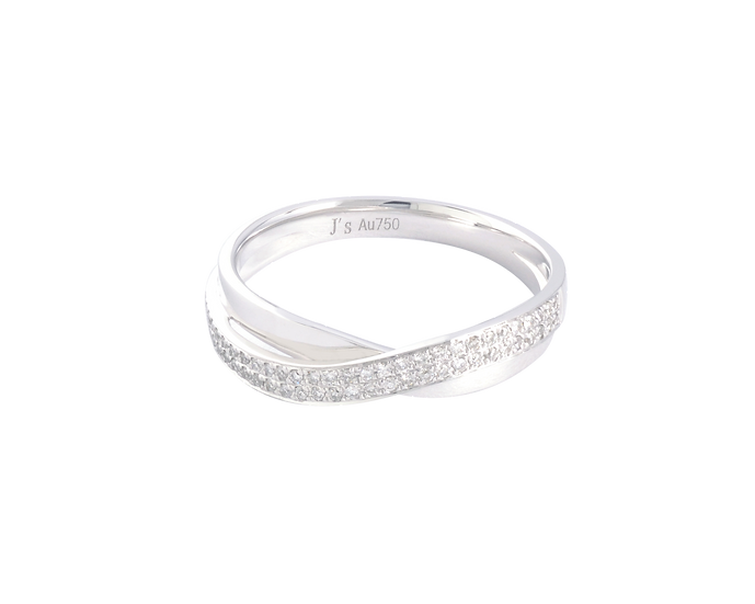Diamond Clustered Gold Infinity Band - Women