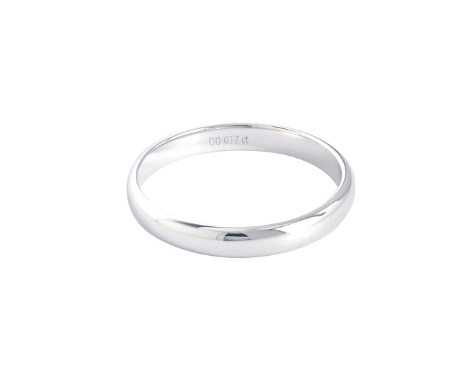 Interior Diamond Polished Gold Band