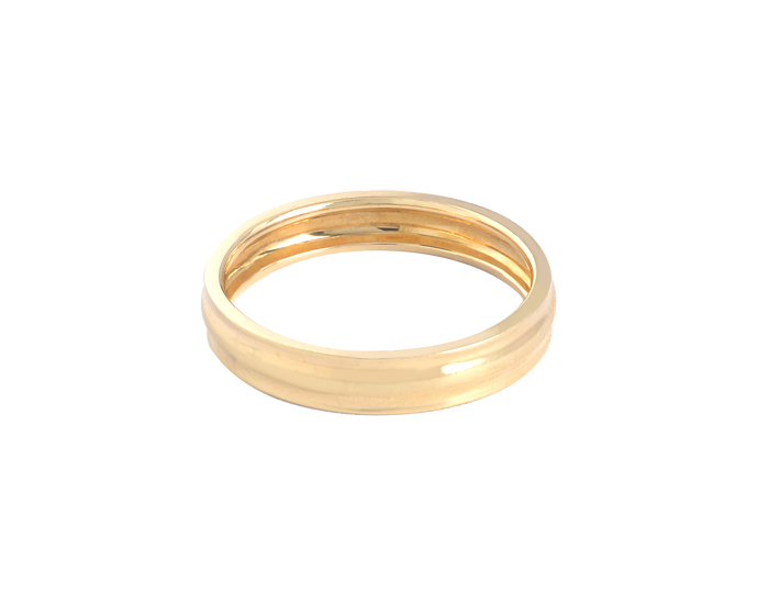 Interior Diamond Gold Band - Men