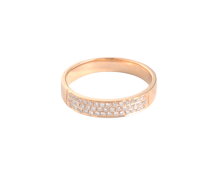 Diamond Clustered Half Eternity Ring - Women