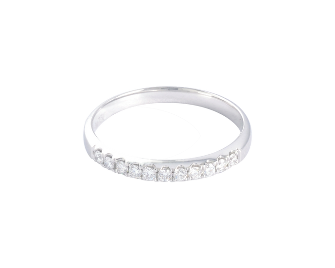 White Gold Half Eternity Band - Women