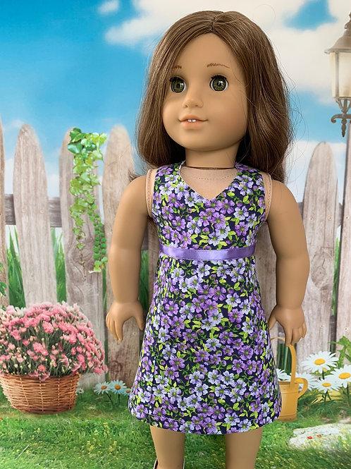 Purple Floral Halter Top Sundress