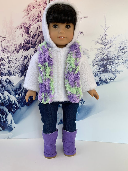 "Winter Outdoors Outfit for18 "" Doll (purple)"