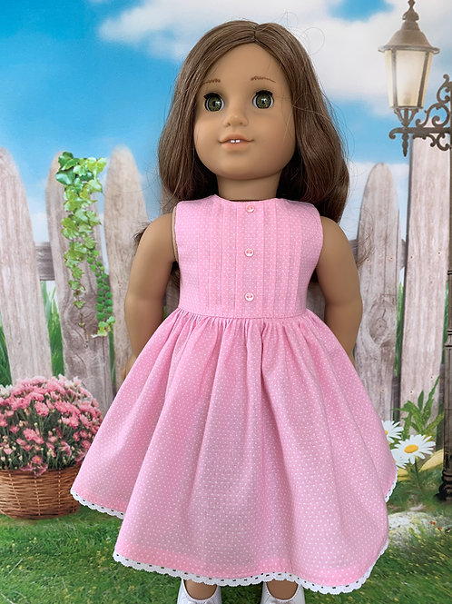 Pink Pin Tuck Sleeveless Dress