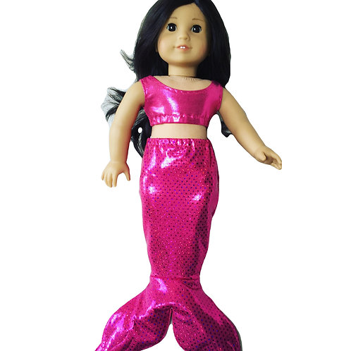 Pink shimmering mermaid outfit