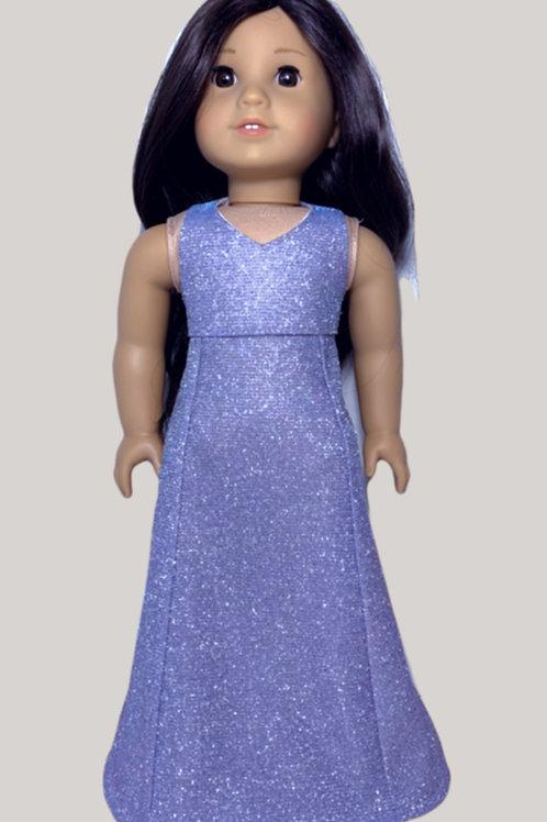 Sparkling silver/lavender gown