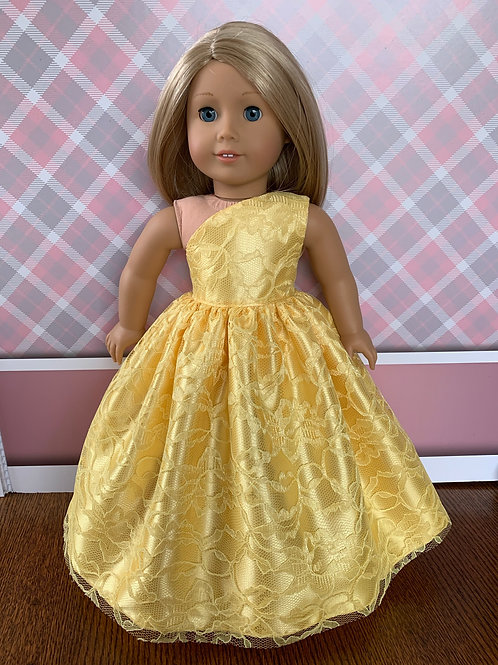 "Yellow Princess Dress for 18"" Doll"