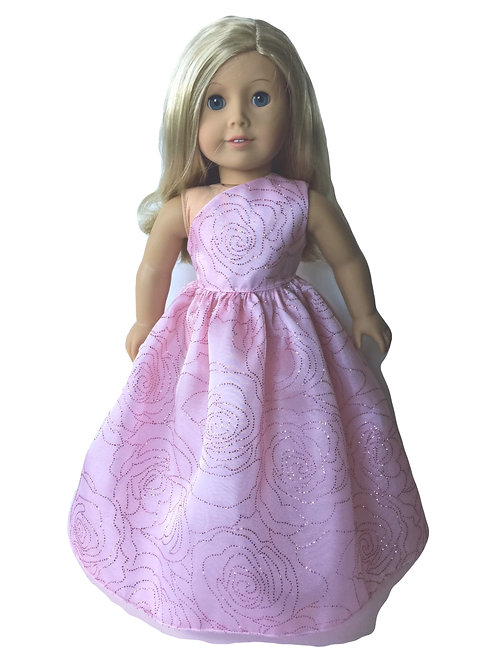 Pink, one shoulder prom dress