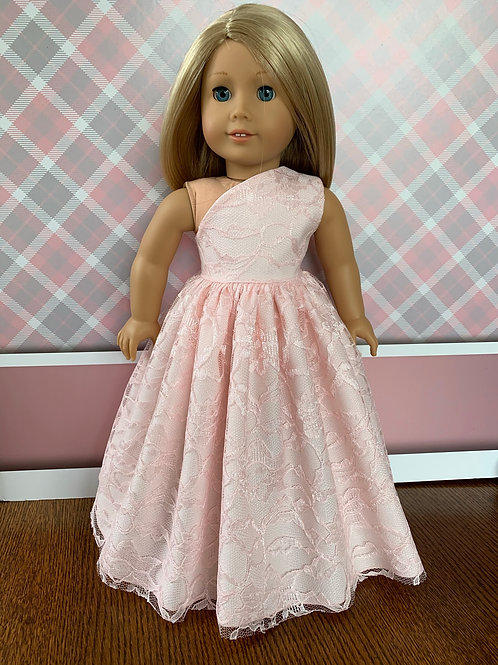 "Soft Pink Princess Dress for 18"" Doll"