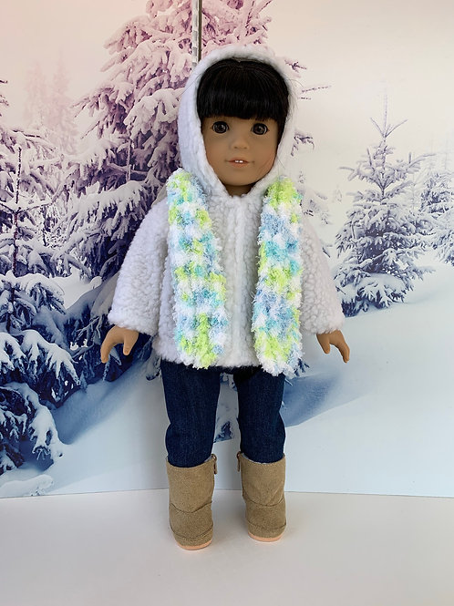 """Winter Outdoor Outfit for 18""""Doll (tan)"""