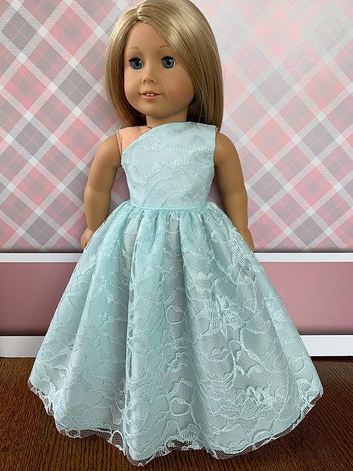 "Sea Mist Green Princess Dress for 18"" Doll"