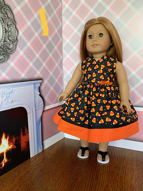 Candy Corn Dress for American Girl