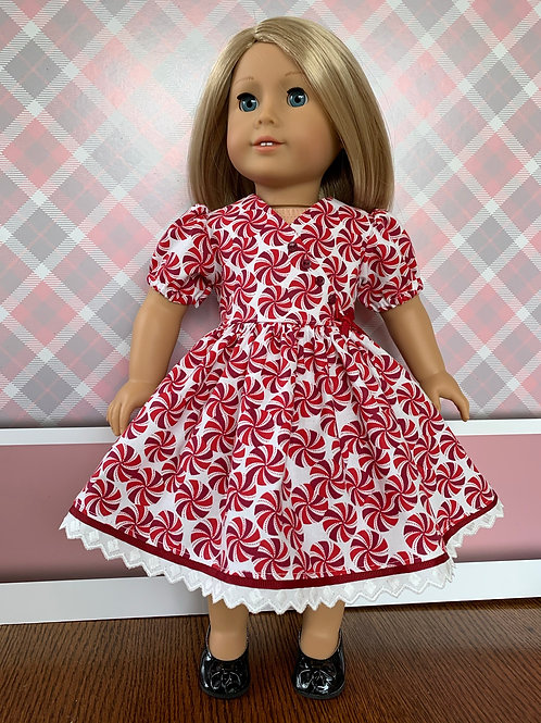 """Peppermint CandyDress for 18""""doll"""