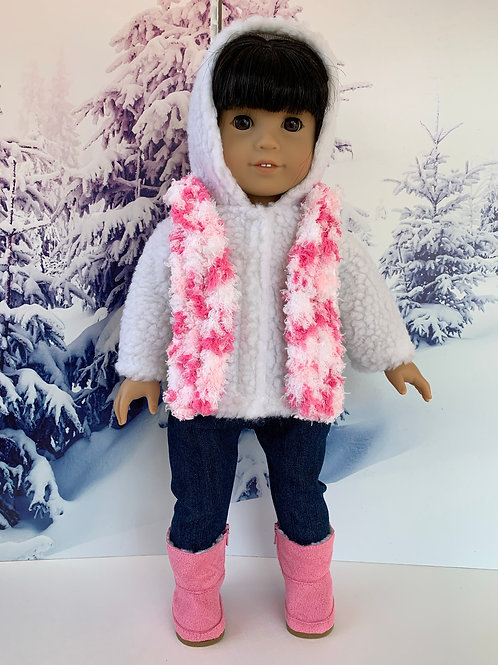 "Winter Outdoors Outfit for 18"" Dolls (pink)"