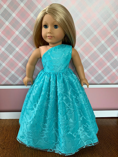 "Teal Princess Dress for 18"" Doll"