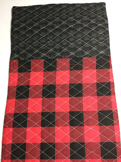 Red/black buffalo plaid sleeping bag