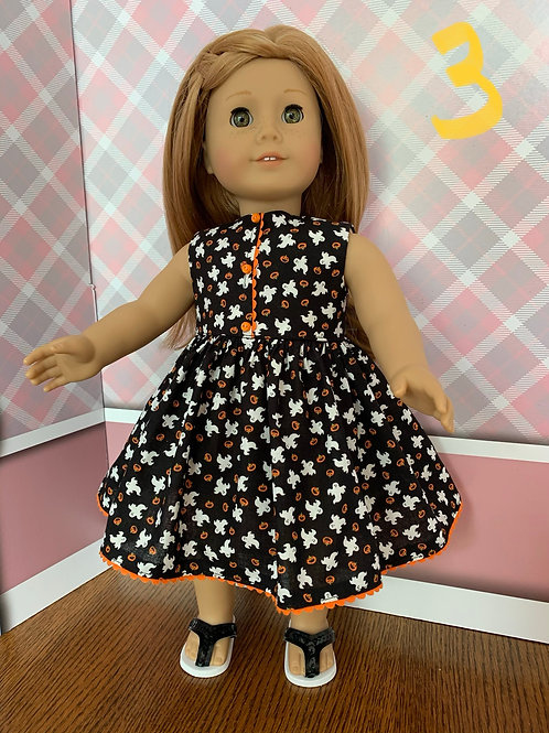Ghost Print Dress for American Girl Doll