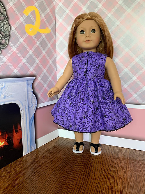 Purple Spiderweb Dress for American Girl