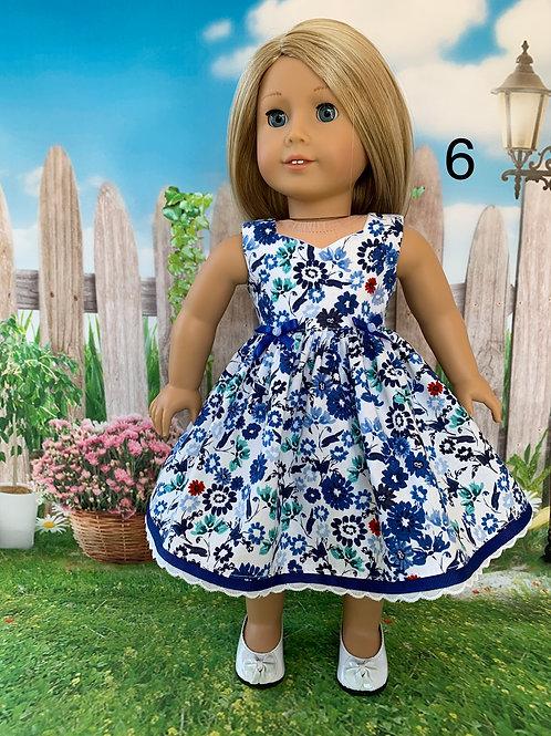 BlueFloral Print Dress