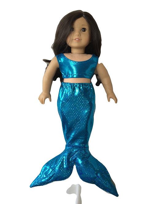 Shimmering teal mermaid