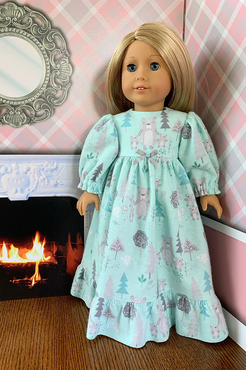 Bears in the Woods Nightgown for American Girl Doll