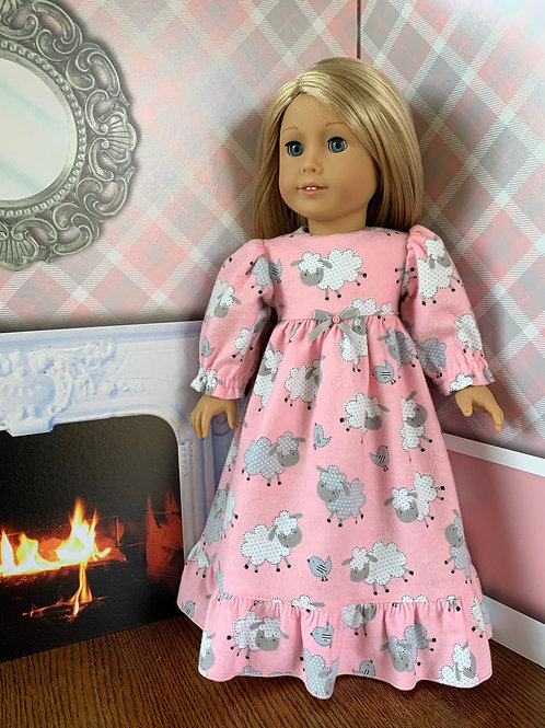 Pink, Lamb Nightgown for American Girl Doll