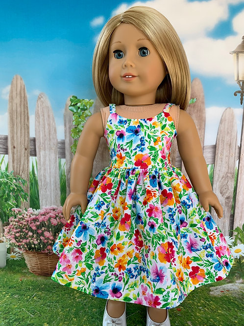 Bright Floral Sundress for 18' DOLL