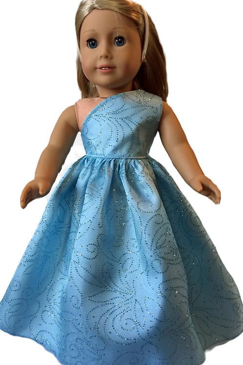 Blue, one shoulder, prom dress