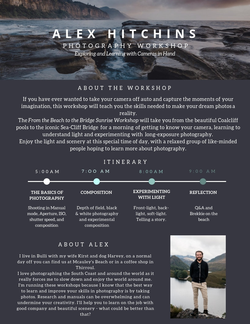 Itinerary - Alex Hitchins Photography Wo