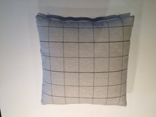 Grey Check Wool Cushion
