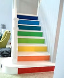 Multi-colored-painted-stairs-bfarhardesi
