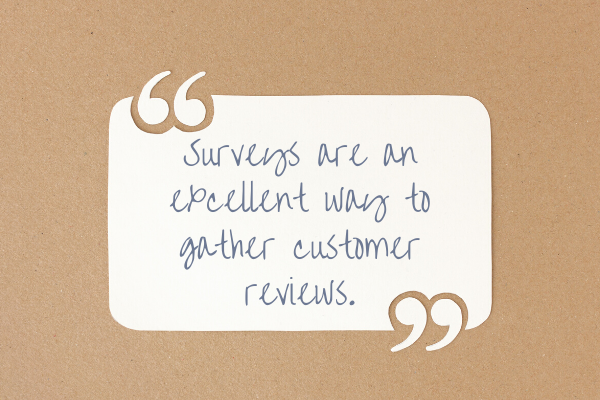 customer reviews and quotes from surveys