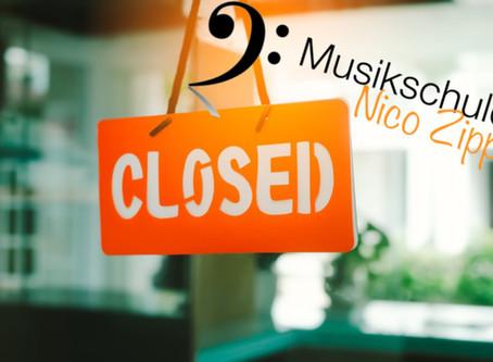 Vorübergehende Schließung der Musikschule Zipp