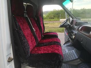 Velours Sitzbezüge abnehmbar anfertigen lassen