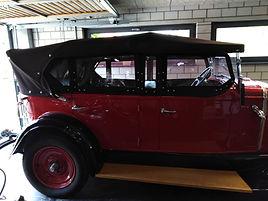 Fiat Oldtimer Verdeck und Steckfenster
