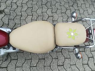Motorradsattel Echtleder Muster machen lassen