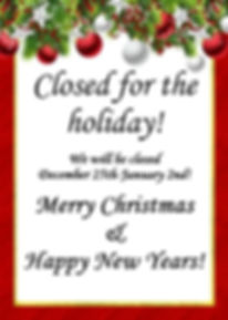 Kringles Bakery Closed for the holiday!
